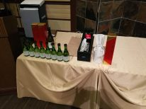 Prizes for drawings and for guests in Kimono.
